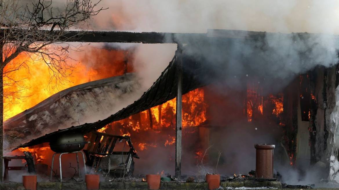 Huntley trailer home destroyed in fire apparently caused by electrical problem with freezer
